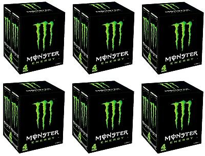Monster Original Carbonated Energy Drink with Caffeine 24x 500ml Cans BB FEB2020