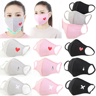 Unisex Adult Cute Breathable Mouth-muffle Anti-Dust Mouth Mask Fashion Face Mask