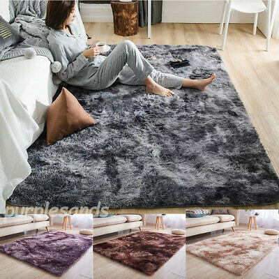 Shaggy Rug SHIMMER SPARKLE GLITTER 5.5cm Thick Soft Pile Large Living Room Rugs*