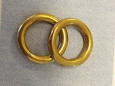 "2 x HEAVY DUTY 3/4""/ 19 MM  CAST SOLID BRASS O RING Ideal bag craft etc"