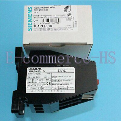 New Siemens 3UA59401D Thermal Overload Relay 3UA5940-1D 2 -3.2A Free Shipping