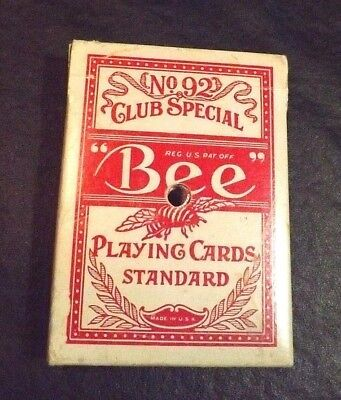 No 92 Club Special Bee Golden Nugget Playing Cards Standard Complete With Box
