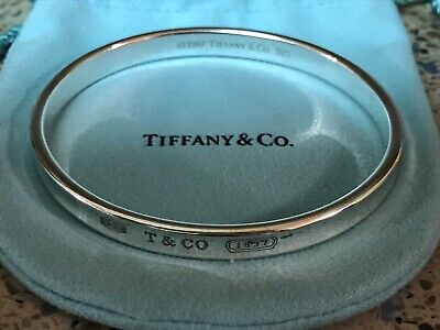 Authentic 1997 Tiffany & Co. 1837 Concave Bangle Bracelet Sterling Silver 925