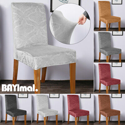 Embossed Dining Chair Covers Stretch Seat Slipcover Banquet Party Home Decor UK