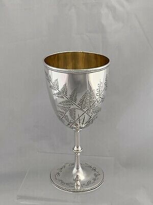 Victorian Silver Wine Cup Or Goblet 1870 London William Hunter Antique Sterling