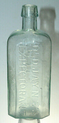 Dr. Jaynes Expectorant Antique Medicine Druggist Bottle Pontil Philada 6 3/4''