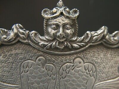 Jewelled Sterling Silver Chinoiserie Salver Footed Tray by Masriera & Carreras