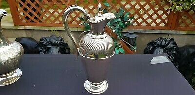 A Antique Victorian Silver Plated Water Jug By A.j.beardshaw & co.sheffield.