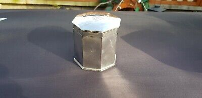 An Antique Victorian Silver Plated Tea Caddy With Beading Decorated Patterns.