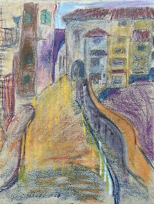 Juri Haakö Drawing Expressive City View South of France Menton? Modern Type