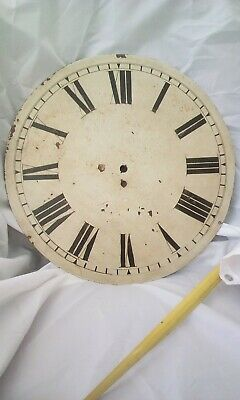 "Antique 18""  Flat Clock Face,  Off Fusee Movement.  is painted steel"
