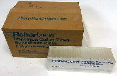 Fisher Fisherbrand Borosilicate Glass Disposable Culture Tubes 12x75mm 1000 Case