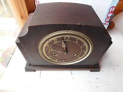 Vintage UK BENTIMA PERIVAL Mantel Clock WESTMINSTER! Chime Mid Century FOR PARTS