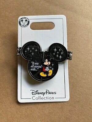 Disney Parks It Was All Started With A Mouse Mickey Walt Hinged Pin Disney NEW