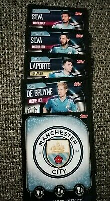 Match Attax 2019/20 19/20 Manchester City 5 CARD PACK with club badge!