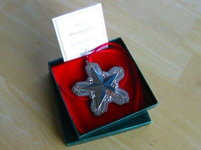 SALE • NEW • Towle Sterling Silver Old Master 2000 Star Christmas Ornament