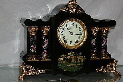 "SETH THOMAS Mantel Antique Clock c/1899 - Model ""MEXICO"" Totally RESTORED --"