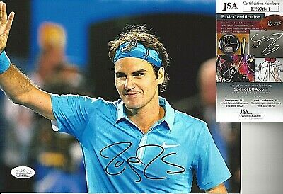 Roger Federer Signed/Auto 8X10 Photo Jsa Certfiend Tennis Major Winner Rare!