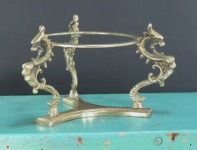 Vintage Brass Three Dragons Sphere Stand Larger Size