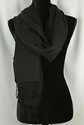 FATTORSETA Oversize Made In Italy Ombre Pashmina Wrap Long Scarf Fringed Trim