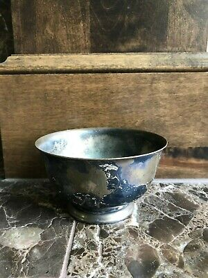 Vintage Webster Wilcox Footed Bowl Silverplate 5 Inch