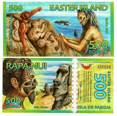 2012 Colorful Easter Island 500 Rongo Polymer Banknote UNC - #BN262 NN01 09