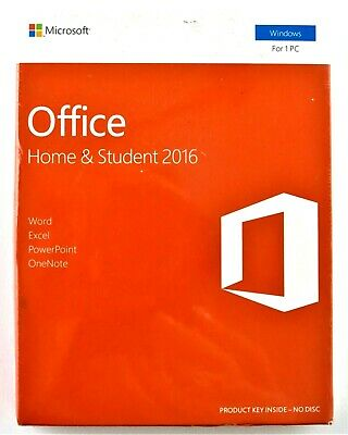 Microsoft Office Home and Student 2016 Windows English PC Key Card 79G-04597 NEW