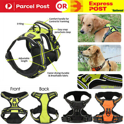 No-pull Pet Dog Harness 3M Reflective Outdoor Safety Vest Jacket Padded Handle
