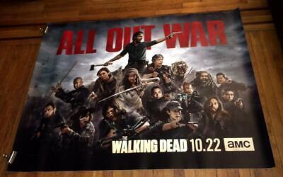 AMC THE WALKING DEAD SEASON 8 5FT SUBWAY POSTER TWD Daryl Dixon RICK MAGGIE