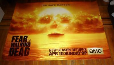 AMC TV FEAR THE WALKING DEAD 5FT Subway POSTER Zombies  Walker 2016 SEASON 2 TWD