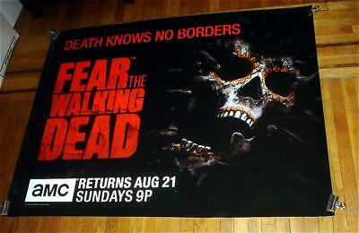 AMC TV FEAR THE WALKING DEAD 5FT Subway POSTER SEASON 2 PART 2 TWD Walkers 2016