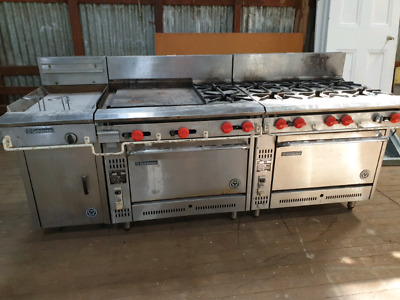 Goldstein commercial gas oven, grill, deep fryer and cooker