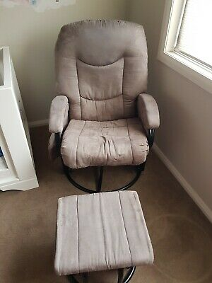 Nursery rocking chair with ottoman