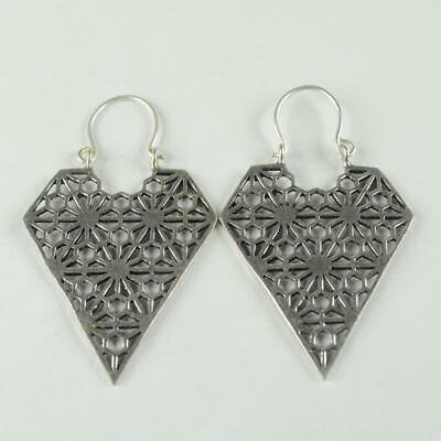 Antique Designer 925 sterling silver Plated Ethnic jewellery Earring ER1109