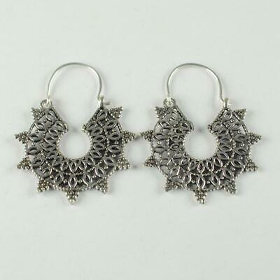 Antique Designer 925 sterling silver Plated Ethnic jewellery Earring ER1102