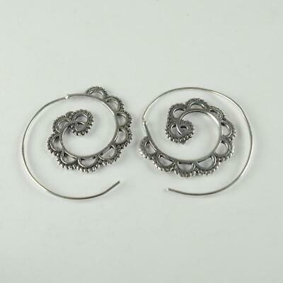 Antique Designer 925 sterling silver Plated Ethnic jewellery Earring ER1106