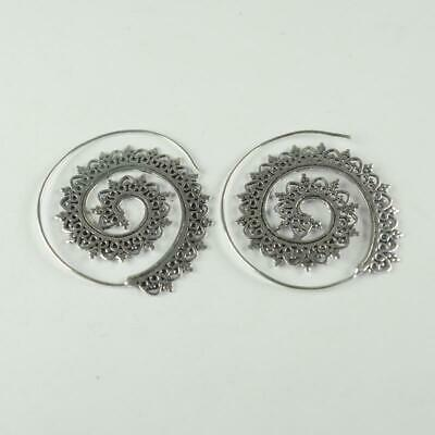 Antique Designer 925 sterling silver Plated Ethnic jewellery Earring ER1108