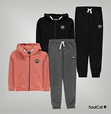 Boys Girls SoulCal Long Sleeves Hoodie Bottoms Tracksuit Sizes from 7 to 13