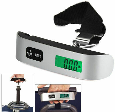 Portable Digital Travel Scale Suitcase Luggage Weight 50KG/110lb Hanging Scale