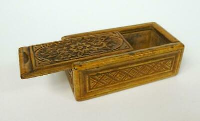 Seltene Wooden Box Baroque Can um 1760 XVIII Century