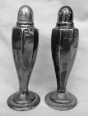 Pair Vintage EPNS A1 Silver Pepper and Salt Shakers