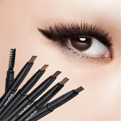 Cosmetic Tools Waterproof Eyebrow Pencil with Brush Double Head Rotatable