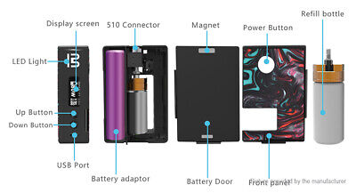 Authentic Blitz Vigor 81W Squonk TC VW APV Box Mod Kit