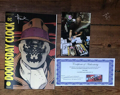 Doomsday Clock 1 Lenticular Variant Signed Gary Frank W/Coa & Photo Nm 1St Print