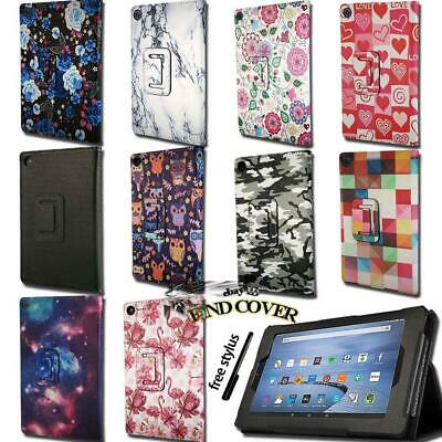 For Amazon Kindle Fire 7 /HD 8 / HD10 With Alexa -Smart Leather Stand Cover Case