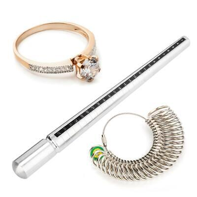 Japan Size Ring Sizer Stick Metal Mandrel Finger Gauge Jewelry Tools Engagement