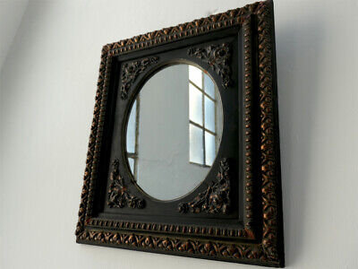19th Century Napoleon III Antique French Oval Mirror With Bronze Gilded Frame