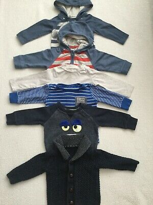 Baby Boys 6-9 Months Long Sleeved Tops Jumper Cardigan Bundle Combined Postage