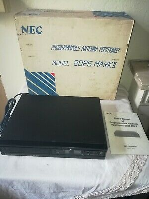 NEC 2025 MK II Programmable Antenna Positioner Japan Nuovo Vintage