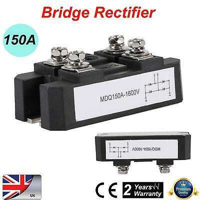 1600V Bridge Rectifier Full Wave Single-phase Diodes 150A Amp 4 Terminals Black